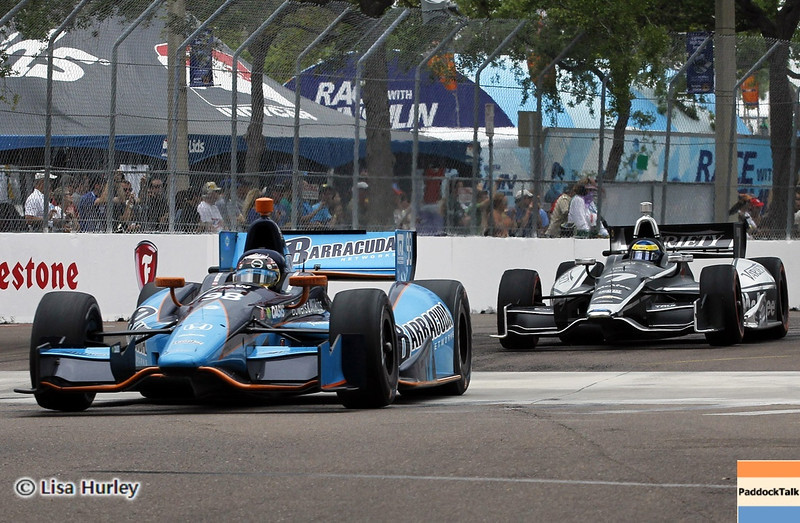 MARCH 24: Track action during the IndyCar race at the Honda Grand Prix of St. Petersburg
