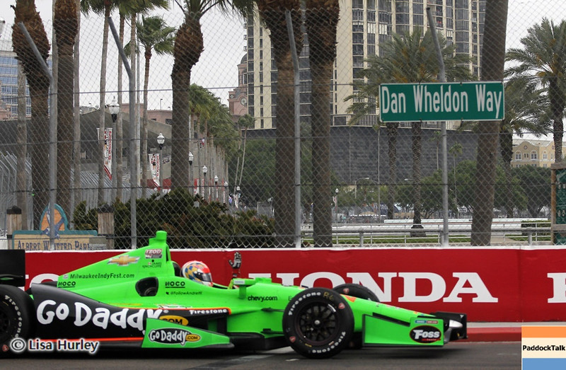 MARCH 24: James Hinchcliffe, race winner, at the IndyCar race at the Honda Grand Prix of St. Petersburg