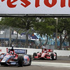 MARCH 24: Marco Andretti and Scott Dixon during the IndyCar race at the Honda Grand Prix of St. Petersburg