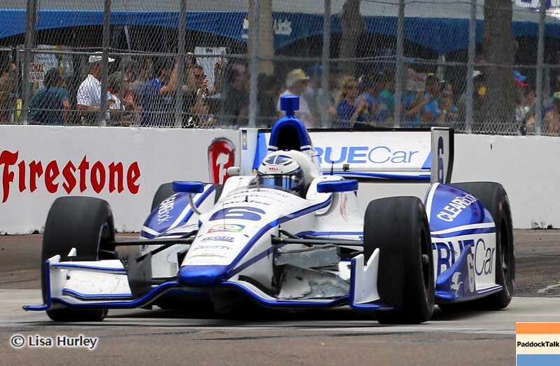 MARCH 24: Sebastian Saavedra during the IndyCar race at the Honda Grand Prix of St. Petersburg