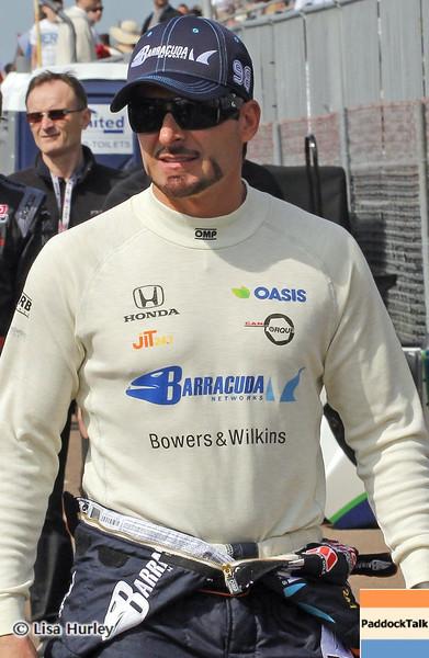 MARCH 22: Alex Tagliani at IndyCar practice at the Honda Grand Prix of St. Petersburg.