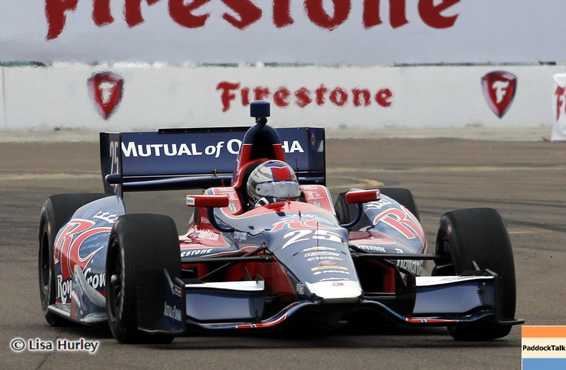 MARCH 23: Marco Andretti at IndyCar qualifying at the Honda Grand Prix of St. Petersburg