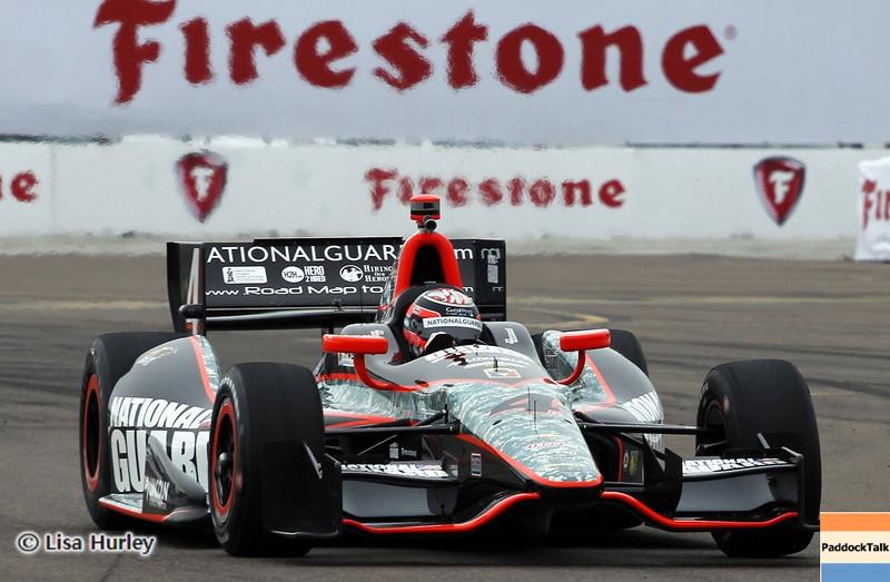 MARCH 23: JR Hildebrand at IndyCar qualifying at the Honda Grand Prix of St. Petersburg