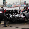 MARCH 22: James Jakes pit stop at IndyCar practice at the Honda Grand Prix of St. Petersburg.