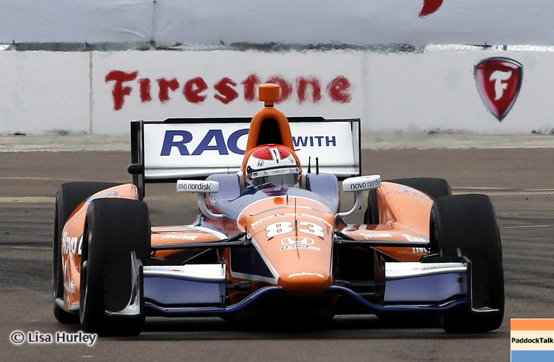 MARCH 23: Charlie Kimball at IndyCar qualifying at the Honda Grand Prix of St. Petersburg