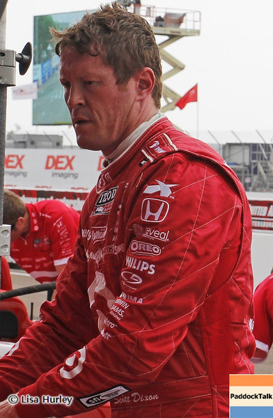 MARCH 23: Scott Dixon at IndyCar qualifying at the Honda Grand Prix of St. Petersburg