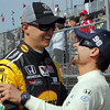 MARCH 22: Graham Rahal and Alex Tagliani at IndyCar practice at the Honda Grand Prix of St. Petersburg.