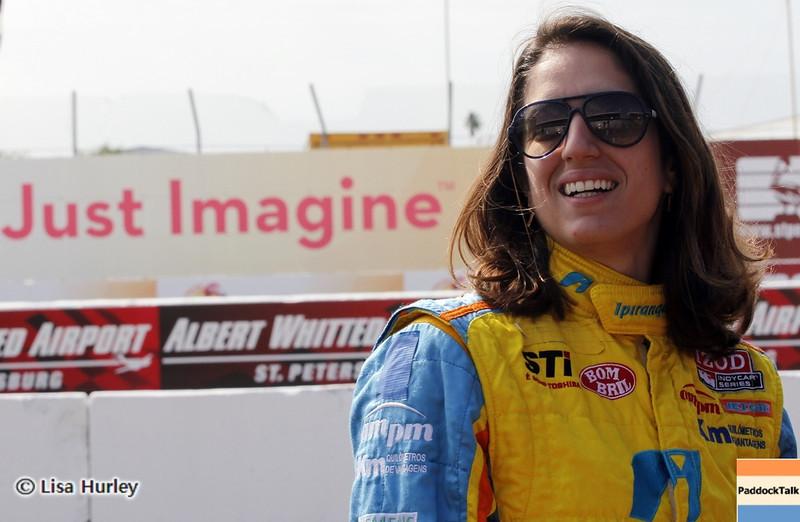 MARCH 22: Ana Beatriz at IndyCar practice at the Honda Grand Prix of St. Petersburg.