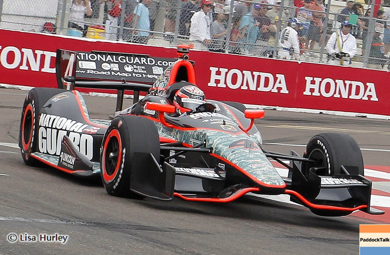 MARCH 23: JR Hildebrand at IndyCar qualifying at the Honda Grand Prix of St. Petersburg