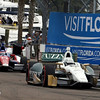 MARCH 24: Ed Carpenter and Takuma Sato during the IndyCar race at the Honda Grand Prix of St. Petersburg