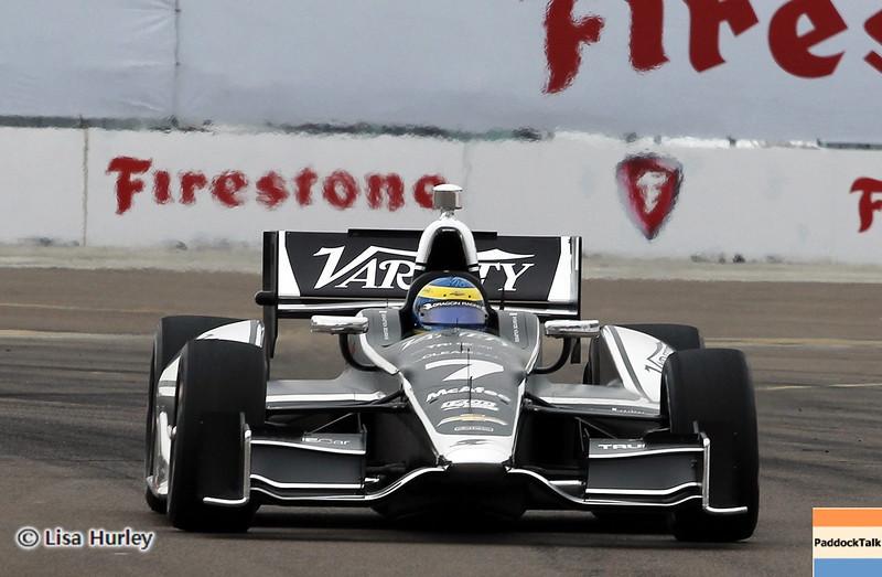MARCH 23: Sebastien Bourdais at IndyCar qualifying at the Honda Grand Prix of St. Petersburg