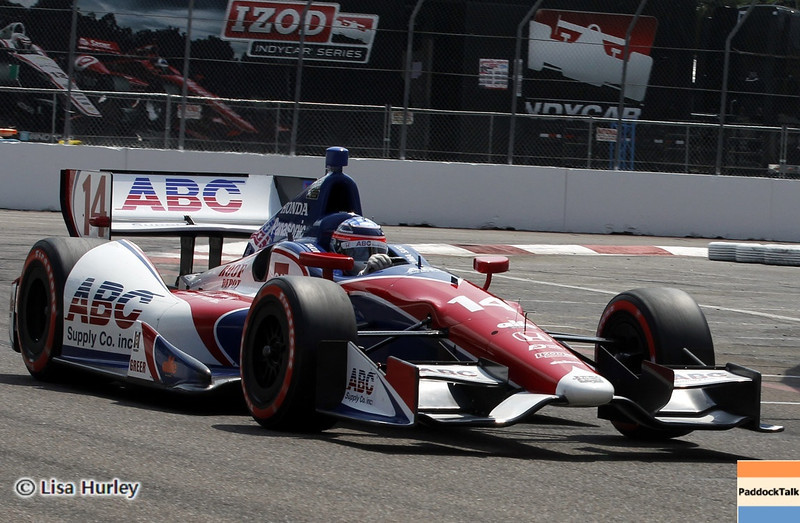 MARCH 23: Takuma Sato at IndyCar qualifying at the Honda Grand Prix of St. Petersburg