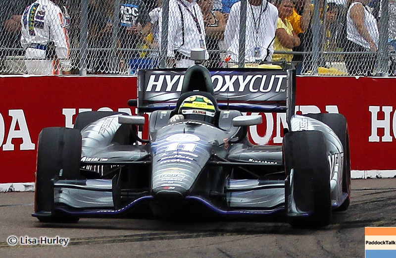 MARCH 24: Tony Kanaan during the IndyCar race at the Honda Grand Prix of St. Petersburg