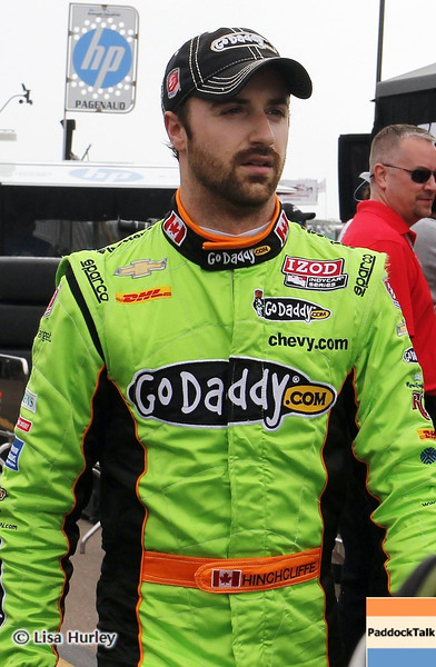 MARCH 23: James Hinchcliffe at IndyCar qualifying at the Honda Grand Prix of St. Petersburg