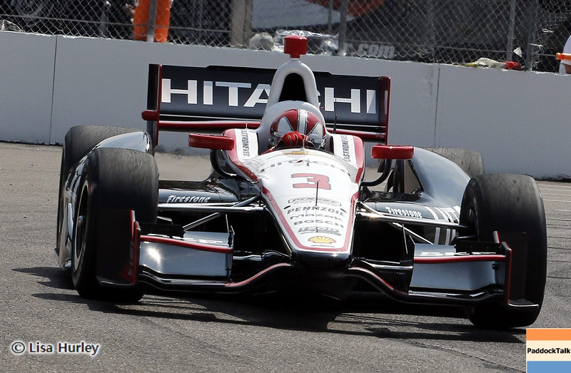 MARCH 23: Helio Castroneves at IndyCar qualifying at the Honda Grand Prix of St. Petersburg