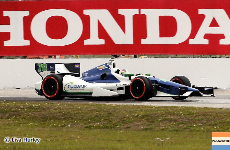 MARCH 24: Simona de Silvestro during the IndyCar race at the Honda Grand Prix of St. Petersburg