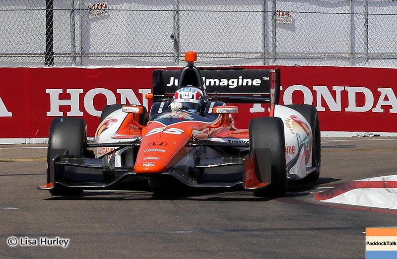 MARCH 22: Tristan Vautier at IndyCar practice at the Honda Grand Prix of St. Petersburg.