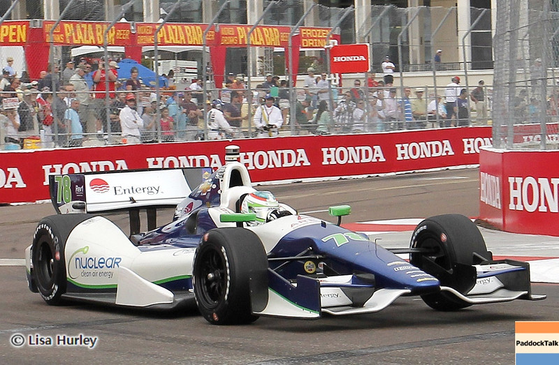 MARCH 23: Simona de Silvestro at IndyCar qualifying at the Honda Grand Prix of St. Petersburg