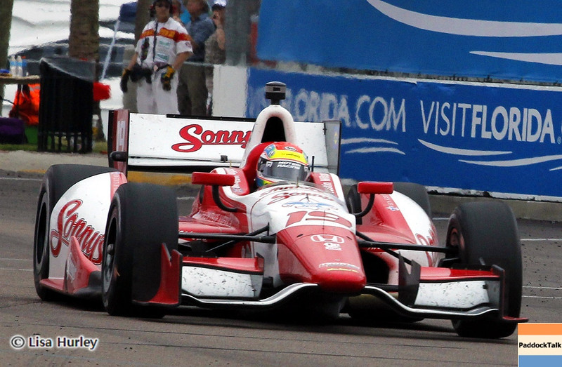 MARCH 24: Justin Wilson during the IndyCar race at the Honda Grand Prix of St. Petersburg