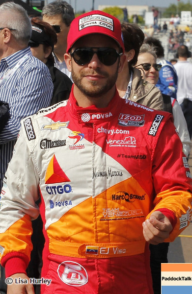 MARCH 22: EJ Viso at IndyCar practice at the Honda Grand Prix of St. Petersburg.