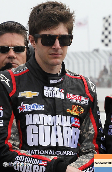 MARCH 24: JR Hildebrand prerace at  the IndyCar race at the Honda Grand Prix of St. Petersburg