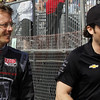 MARCH 22: Sebastien Bordais and Jay Penske at IndyCar practice at the Honda Grand Prix of St. Petersburg.