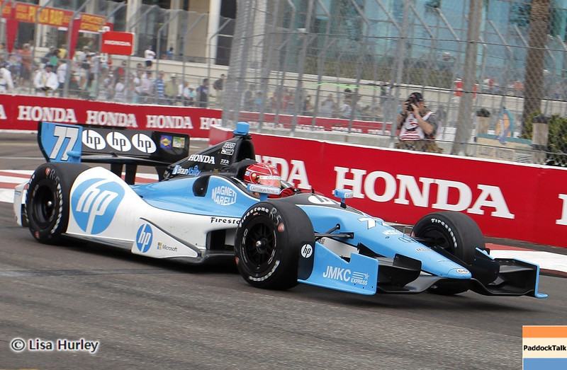MARCH 23: Simon Pagenaud at IndyCar qualifying at the Honda Grand Prix of St. Petersburg