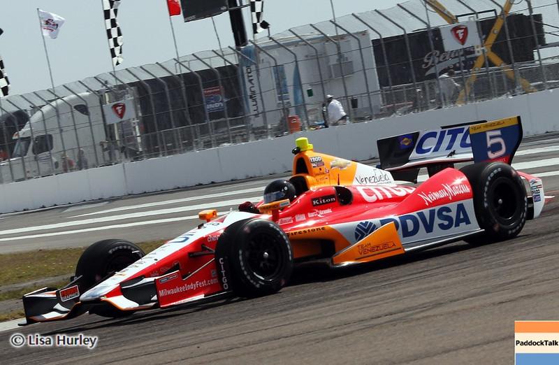 MARCH 22: EJ Viso at IndyCar practice at the Honda Grand Prix of St. Petersburg.
