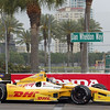 MARCH 23: Ryan Hunter-Reay at IndyCar qualifying at the Honda Grand Prix of St. Petersburg