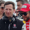 MARCH 24: John Andretti and EJ Viso prerace at  the IndyCar race at the Honda Grand Prix of St. Petersburg