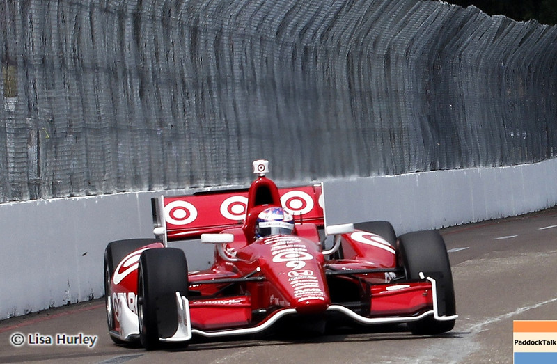 MARCH 23: Scott Dixon at IndyCar qualifying at the Honda Grand Prix of St. Petersburg