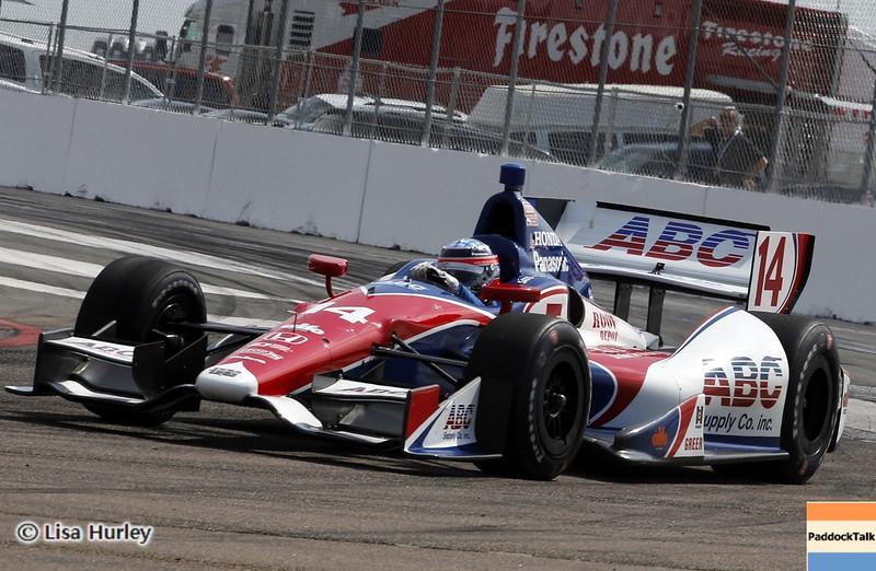 MARCH 22: Takuma Sato at IndyCar practice at the Honda Grand Prix of St. Petersburg.