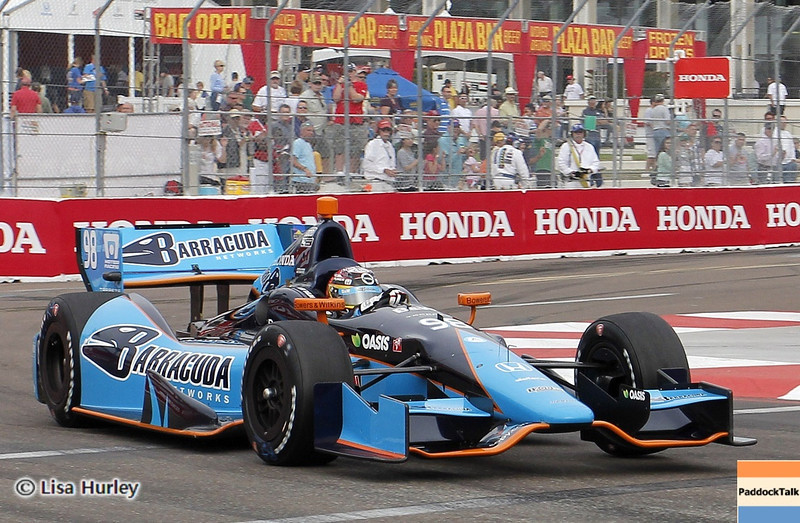 MARCH 23: Alex Tagliani at IndyCar qualifying at the Honda Grand Prix of St. Petersburg