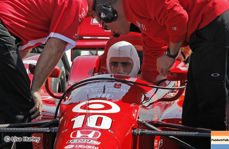 MARCH 22: Dario Franchitti at IndyCar practice at the Honda Grand Prix of St. Petersburg.