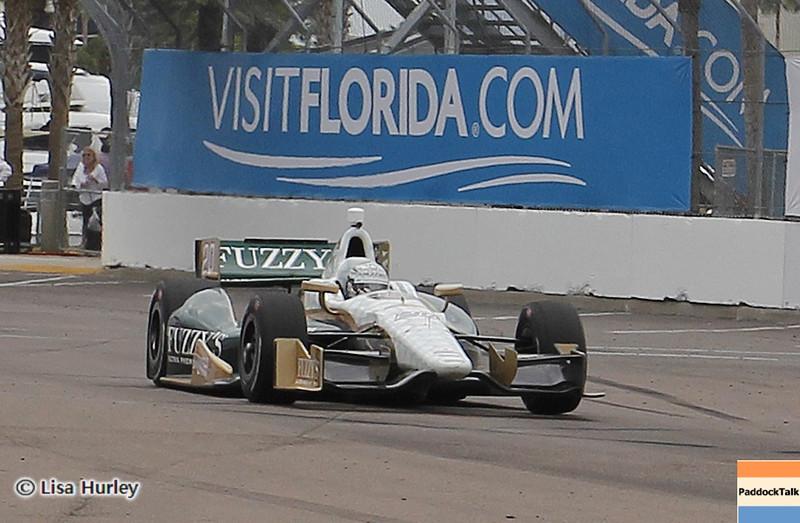 MARCH 22: Ed Carpenter at IndyCar practice at the Honda Grand Prix of St. Petersburg.