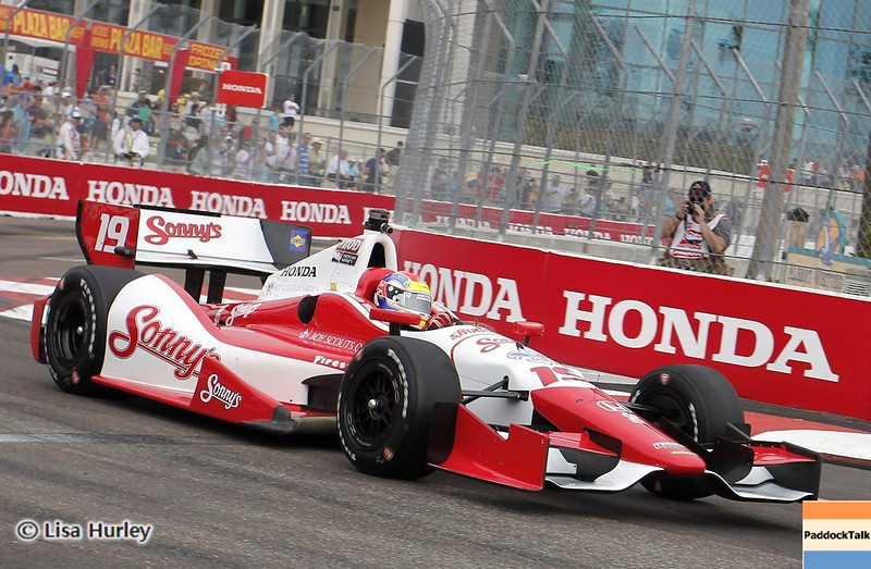 MARCH 23: Justin Wilson at IndyCar qualifying at the Honda Grand Prix of St. Petersburg