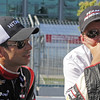 July 13:  Helio Castroneves and Tim Cindric after the Indy Honda Toronto race.