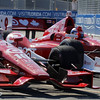 July 13:  Dario Franchitti and Scott Dixon celebrate after the Indy Honda Toronto race.