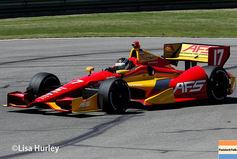 April 26: Sebastian Saavedra during qualifying for the Honda Indy Grand Prix of Alabama