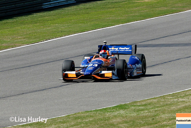 April 26: Charlie Kimball during qualifying for the Honda Indy Grand Prix of Alabama