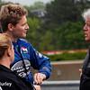 April 27: Josef Newgarden, Bob Hills and Sarah Fisher during the Honda Indy Grand Prix of Alabama