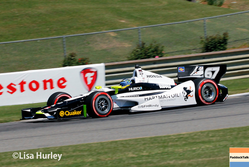 April 26: Josef Newgarden during qualifying for the Honda Indy Grand Prix of Alabama