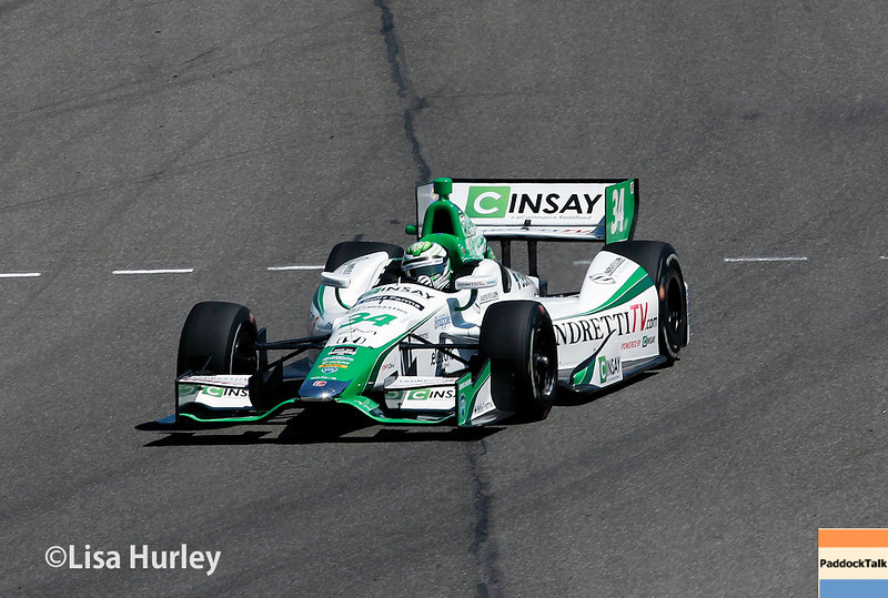 April 26: Carlos Munoz during qualifying for the Honda Indy Grand Prix of Alabama