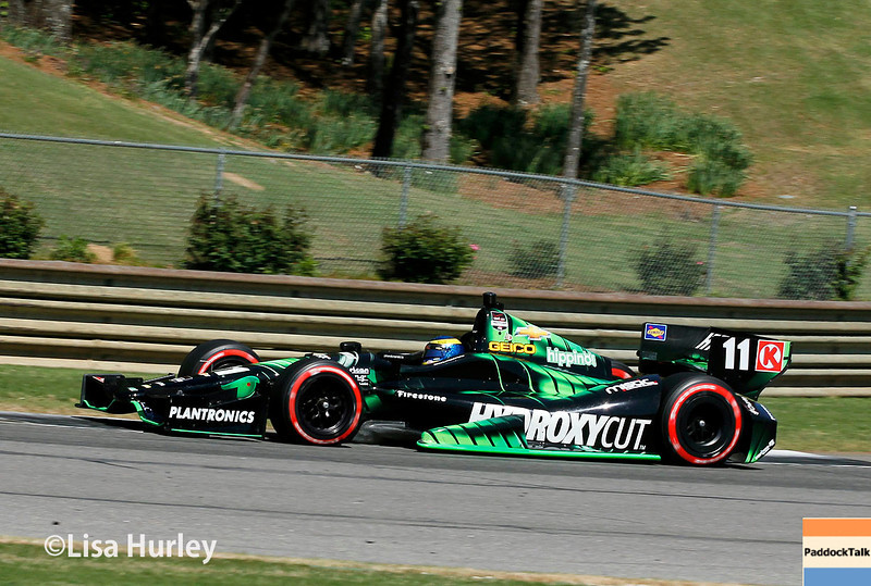 April 26: Sebastien Bourdais during qualifying for the Honda Indy Grand Prix of Alabama