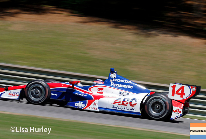 April 26: Takuma Sato during qualifying for the Honda Indy Grand Prix of Alabama