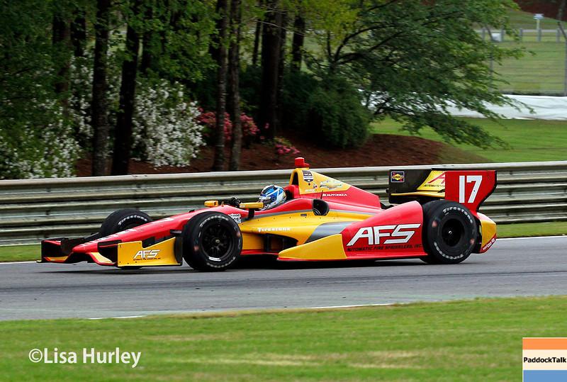 April 27: Sebastian Saavedra during the Honda Indy Grand Prix of Alabama