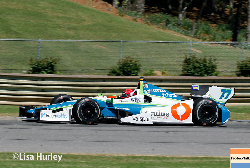 April 26: Simon Pagenaud during qualifying for the Honda Indy Grand Prix of Alabama
