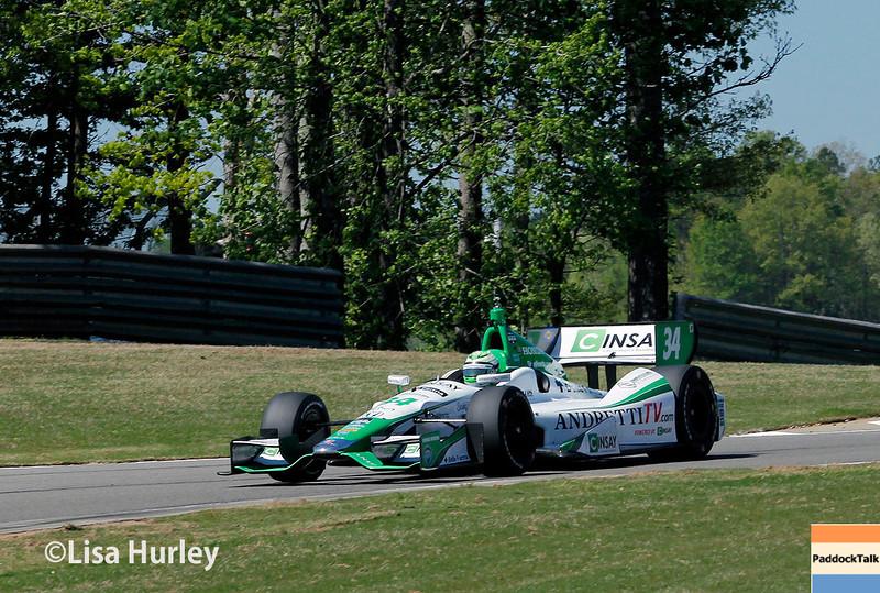 April 26: Carlos Munoz during qualifying for the Honda Indy Grand Prix of Alabama