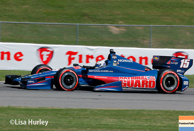 April 26: Graham Rahal during qualifying for the Honda Indy Grand Prix of Alabama