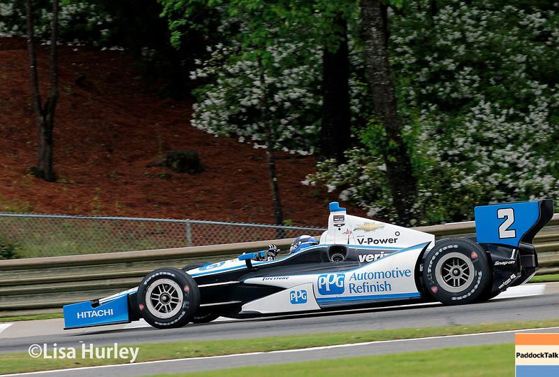 April 27: Juan Montoya during the Honda Indy Grand Prix of Alabama